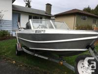 For Sale 16ft welded aluminum fish boat. 90hp 2 stroke