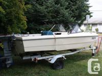 16' long ocean flat bottom boat with 40 hp mariner