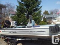 16ft Aluminum fishing boat, 50hp Mercury with power