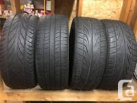 Set of 4 lightweight rims and tires, picked up for a