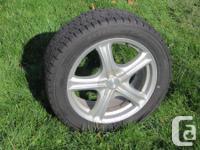 "Four 17"" Dunlop Graspic-DS-3 M+S Wintertime tires"