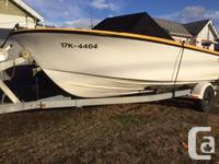 1969 Sabrecraft with in line Chevy 6 engine hull in