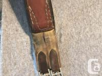 "Older 17"" brown leather Collegiate saddle Comes with"