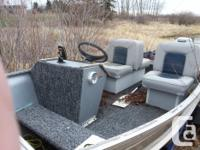 Seats redone about 2 years ago. Includes fish finder.