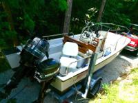 17 foot Boston Whaler, 1991, Tyee with centre consul.