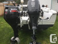 17 foot Hourston for sale $10.500 90 hp Suzuki 300