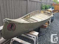 17 ft Osage aluminum canoe. Very stable. Some