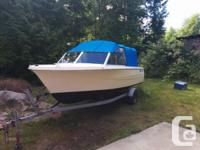 17 foot Hourston Glasscraft runabout with a 1995 115 hp