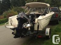 1993 Hourston glascraft, complete salmon fishing
