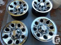 17 INCH CHEVY GMC 1500 TRUCK CHROME CLAD RIMs 17X7.5 by