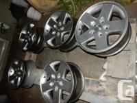 BRAND: 17 INCH JEEP WRANGLER RIMS. With TPMS (Set of 5)