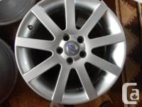 "17"" Volvo XC90 Factory OEM Rims with Hyper Silver"