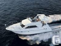 This 3750 Cruisers Aft cabin Motor Yacht is in terrific