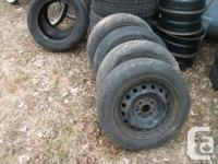 VERY GOOD SET OF 4 TIRES MOUNTED / BALANCED ON WHEELS