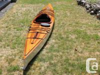 This kayak was built from a 3-part article that