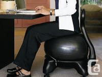 The Gaiam Balance Ball chair greatly alleviates the