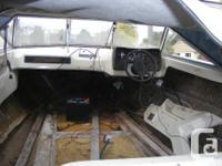 1975 17ft Reinell model V-1700 boat, has been gutted,