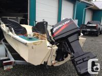 1990 17 FT Surf Craft 2001 60HP MERCURY 2 STROKE tiller