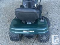 17HP Craftsmen lawn tractor in excellent condition.