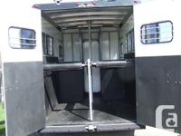 Immaculate condition two horse straight haul trailer