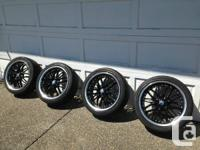 """Set of 4 18"""" wheels with 225/40 R18 tires.  Bolt"""