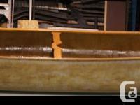 18' FOOT CEDAR STRIP FIBERGLASS CARGO CANOE Fold Down