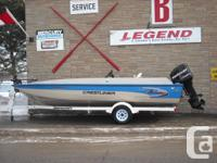 2000 21' Crestliner Rampage side console with 2006