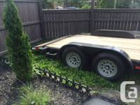 18' Car Hauler with 2' dove tail, removable ramps store