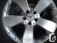 For sale are four Mercedes rims ( 5-spoke wheel, wing