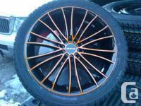 """18"""" RTX Orange rims 5x114 & 5x112 w/ 245-40-18"""