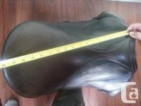 "18"" Stubben dressage saddle. 31 tree (MW), recently"