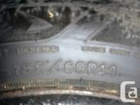 QTY 4. 185/60R14- Goodyear Nordic Winter season Tires