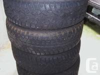 4 good used winter tires for a volvo car,85%