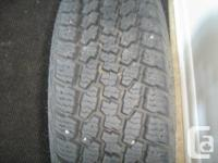 Dean Wintercat winter tires with 4 x100 bolt rims