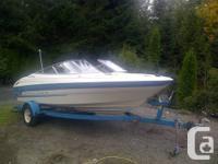 19' foot watercraft, bow biker, Bayliner Capri. Runs