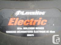 "- 19"" lawn mower deck with rear bag or mulching option"