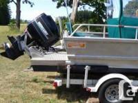 aluminum boat for sale. Boat and motor from the mid