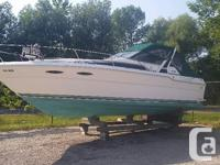 1989 Sea Ray 300 Sundancer 11 ft beam Twin 350 mercs