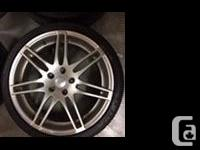 4 Audi wheels with a 5x112 bolt pattern. Had them on an