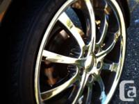 Chrome Rims  19inches Zenetti BRAND NEW Low pro tires,