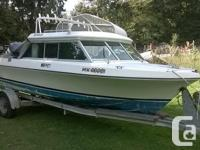 This is a solid and well equipped sport fishing boat.