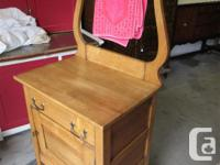 THIS SOLID WOOD WASHSTAND WAS FOUND IN BEDROOMS. IT IS