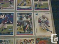 A binder with 192 cards of star running backs. The lot