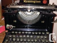 This typewriter was owned by Mr.Gerald Martineau,a well