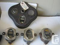 1928-1929 to Mid 1930 Ford Model A Speedometers, one in