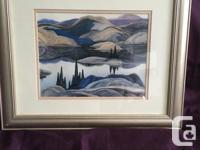Framed 1928 Mirror Lake Print by Franklin Carmichael of