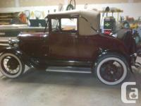 Used, 1929 Ford Model A Cabriolet. 2 door coupe with soft top for sale  Ontario
