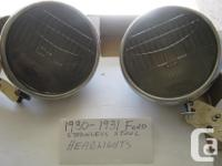 1930-31 Ford Model A stainless steel Headlights, have