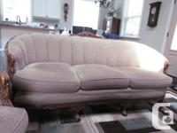 "1930's Couch and Chair. (Couch is 6'6""L x 3'1""W and"