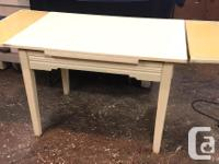 Kitchen table made by the Hepworth furniture company in